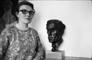 Avril Vellacott and Jeremy Thorpe's bust